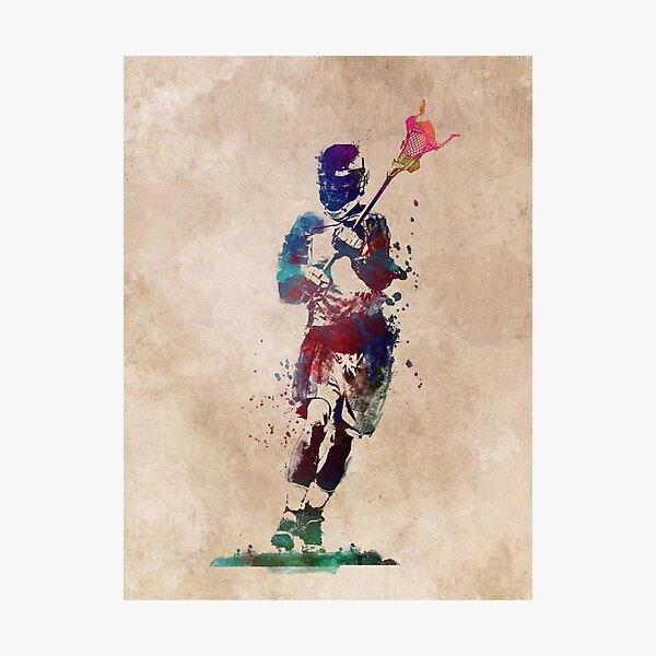 Lacrosse player art 2 #sport #lacrosse Photographic Print