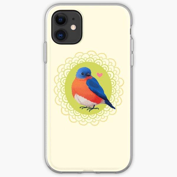Sweet Bluebird in Cream iPhone Soft Case
