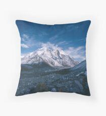 Bhagirathi Parbat from the Gangotri Glacier Throw Pillow