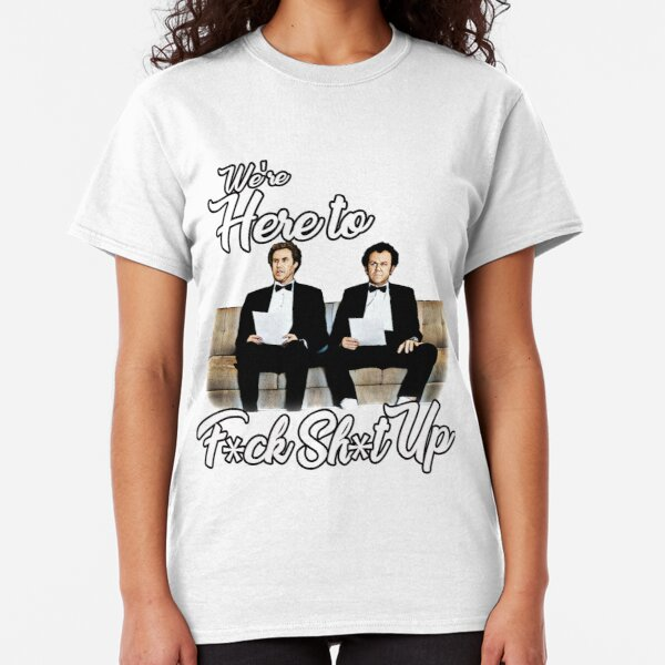 WERE HERE TO F*CK SH*T UP MENS T SHIRT MOVIE QUOTE CATALINA BOATS HOES STAG TEE