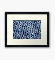 Knitting Texture Framed Print