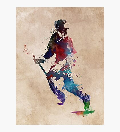 Lacrosse player art 3 Photographic Print