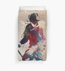 Lacrosse player art 3 Duvet Cover