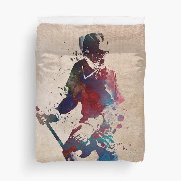Lacrosse player art 3 #sport #lacrosse Duvet Cover