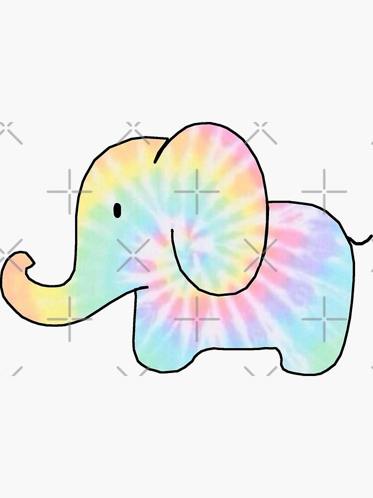 Tie-Dye-Elefant von amariei