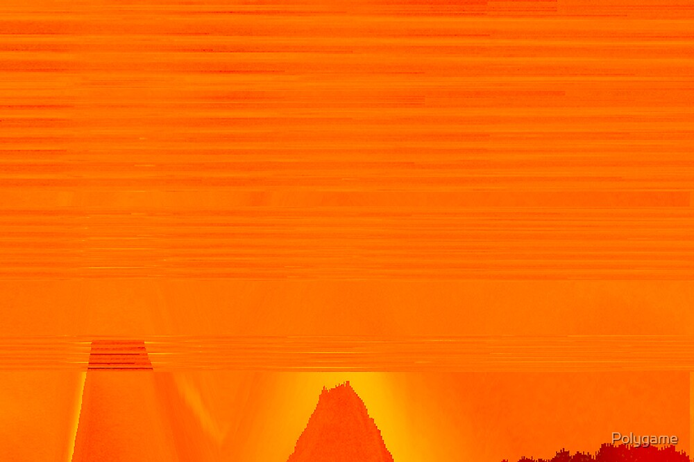 Desert in Orange by Polygame