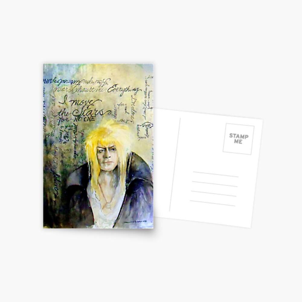 Jareth The Goblin King (Ich bewege die Sterne für niemanden) Postkarte