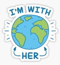 I'm With Her Sticker
