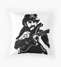 "IAN FRASER ""LEMMY"" KILMISTER Throw Pillow"