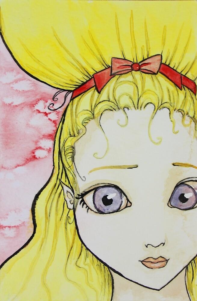 Blonde Girl Watercolor by veelamusic