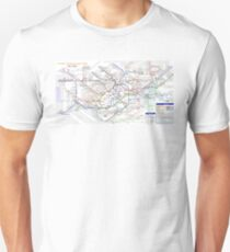 London Underground Map Unisex T-Shirt