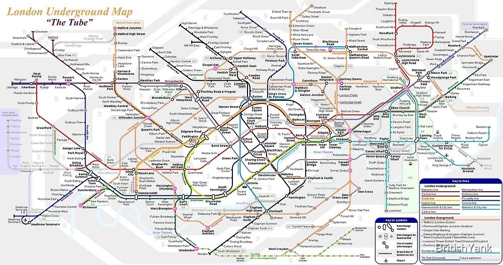 London Underground Map by BritishYank