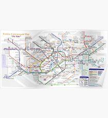 London Underground Map Poster