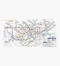 London Underground Map Photographic Print