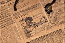Collaged Patchwork Of Vintage Music Magazine Pages  by Sandra Foster