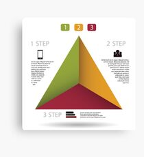 Modern info graphic for business project Canvas Print