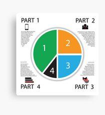 Modern info graphic business circle Canvas Print
