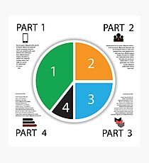 Modern info graphic business circle Photographic Print