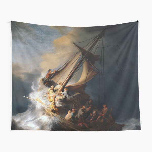 Stolen Painting - The Storm on the Sea of Galilee Tapestry