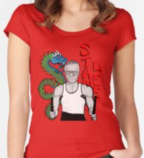 "stan ""the dragon"" lee Women's Fitted Scoop T-Shirt"