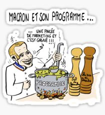 macron et son programme Sticker