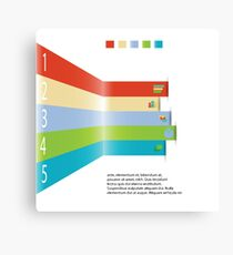 Modern info graphic element for business template Canvas Print