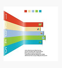 Modern info graphic element for business template Photographic Print
