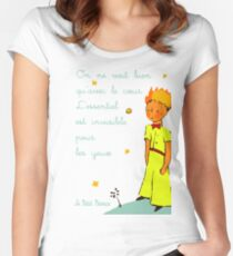 Est Invisible Por Les Yeuse Women's Fitted Scoop T-Shirt
