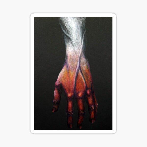 Bleeding Hand Sticker