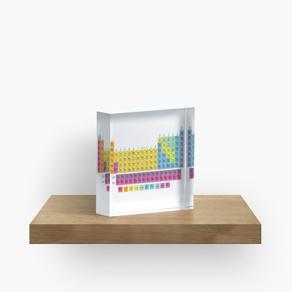 Periodic Table of the 118 Elements Acrylic Block