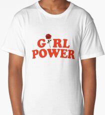 Girl Power Rose Feminism Long T-Shirt