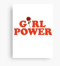 Girl Power Rose Feminism Canvas Print