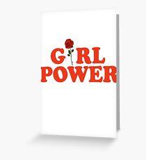 Girl Power Rose Feminism Greeting Card