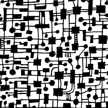 Abstract Pattern 020517 - Black on White by Artberry