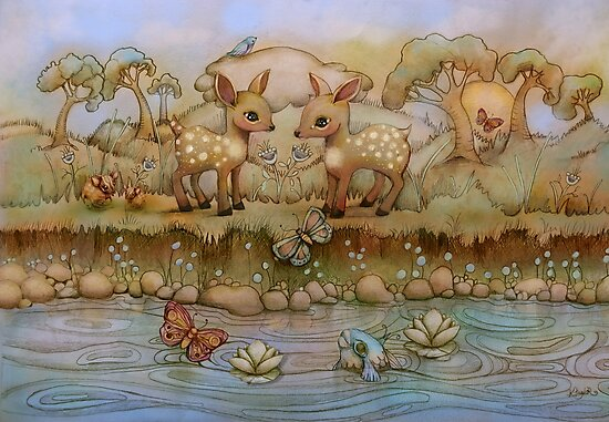 down by the riverside by Karin Taylor