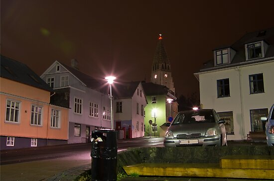 Reykjavik by Night by Michael Anderson