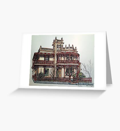 Phryne Fisher's house 'Wardlow'©.  Greeting Card