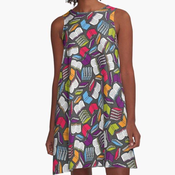 So Many Colorful Books... A-Line Dress
