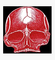 Red Skull - Art By Kev G Photographic Print