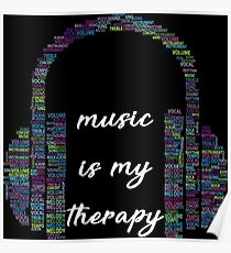 Music is my Therapy Poster