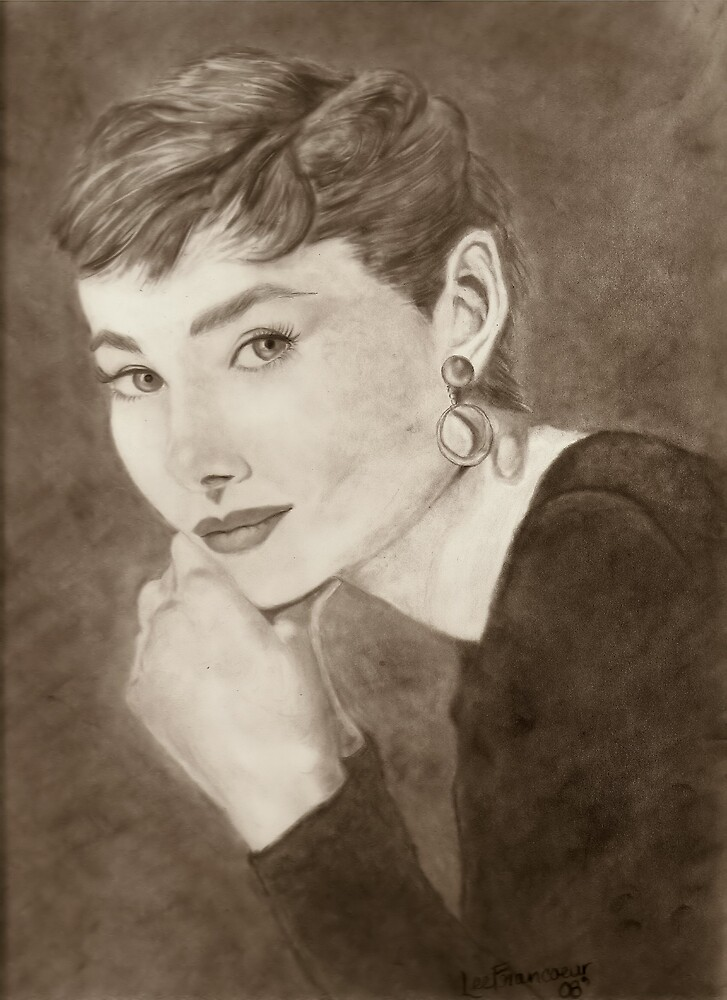 Audrey Hepburn by LeeFrancoeur