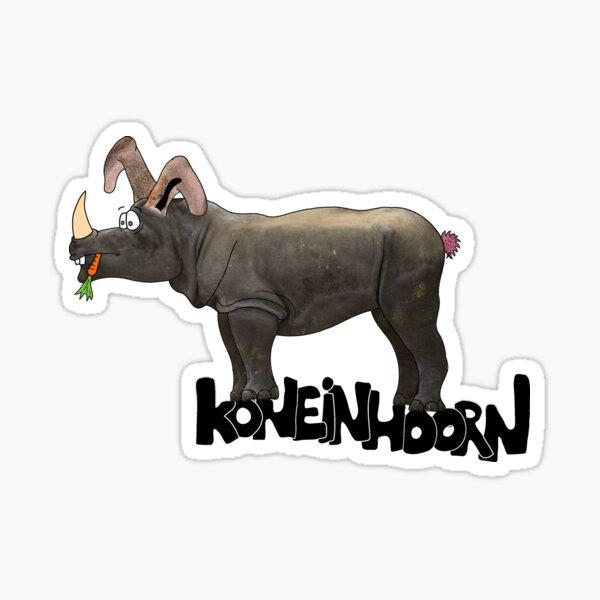 Koneinhoorn - Een kruising tussen konijn en neushoorn Sticker