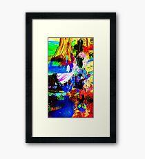 Hi-C No.1 Abstract Acrylic Paint Framed Print