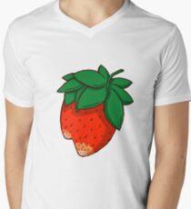 strawberry Men's V-Neck T-Shirt