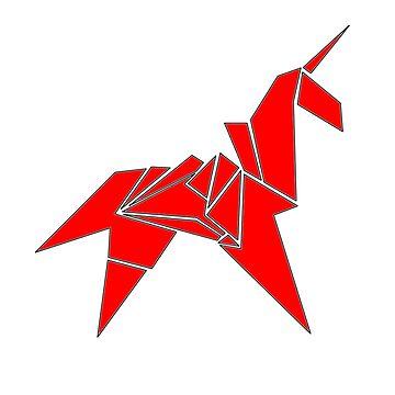 Blade Runner Unicorn (Red) by occamslaser