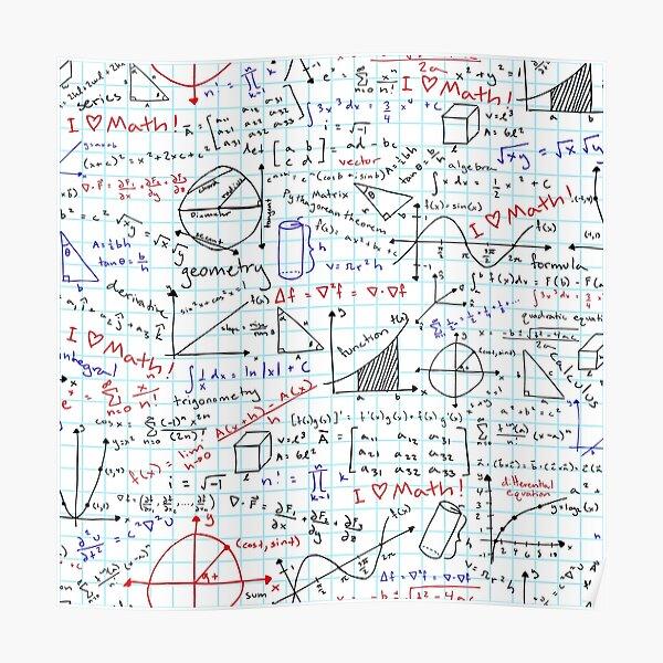 Math Homework Poster