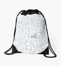 Math Homework Drawstring Bag