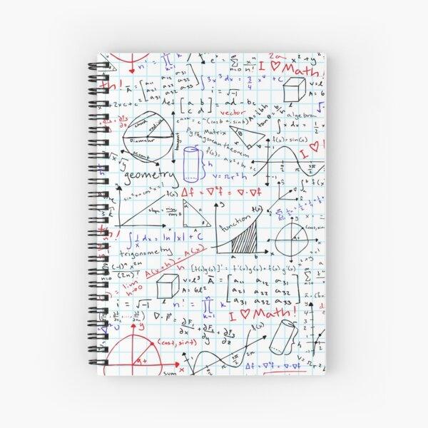 Math Homework Spiral Notebook