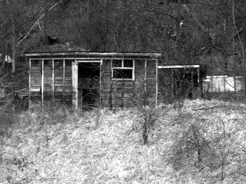 old and forgotten  B&W by melynda blosser