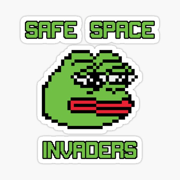 Safe Space Invaders Sticker